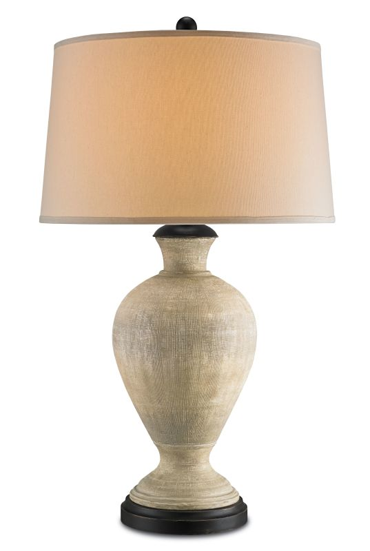 "Currey and Company 6655 Barnes 34"" High Table Lamp Washed Putty /"