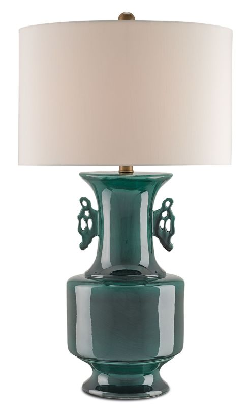 Currey and Company 6694 Vert de Chine 1 Light Table Lamp with
