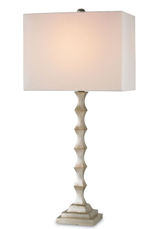 "Currey and Company 6788 Lyndhurst 1 Light 35"" High Table Lamp Silver"