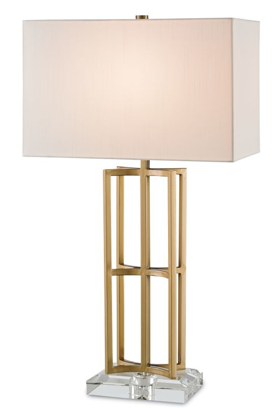 """Currey and Company 6801 Devonside 29"""" High Table Lamp Coffee Brass /"""