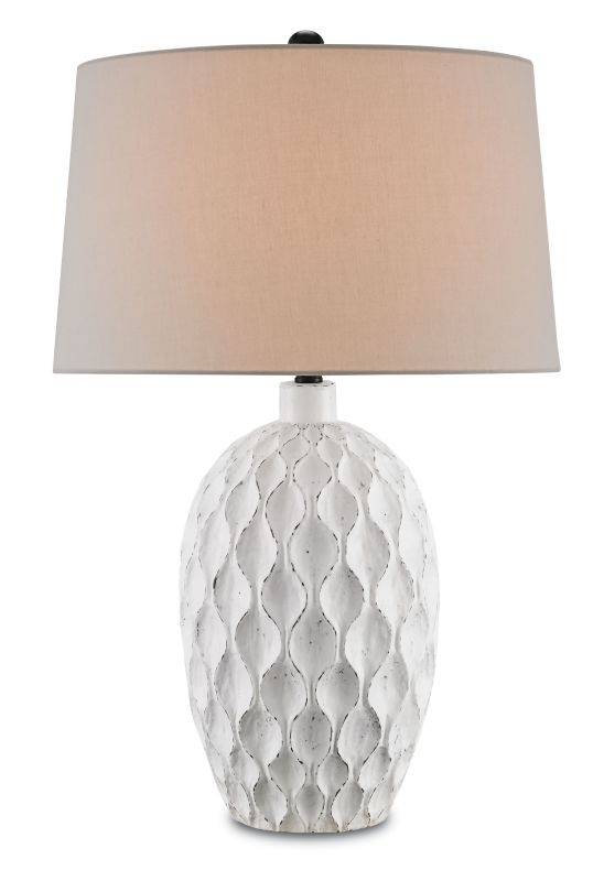 """Currey and Company 6843 Tazetta 31"""" High Table Lamp Antique White"""