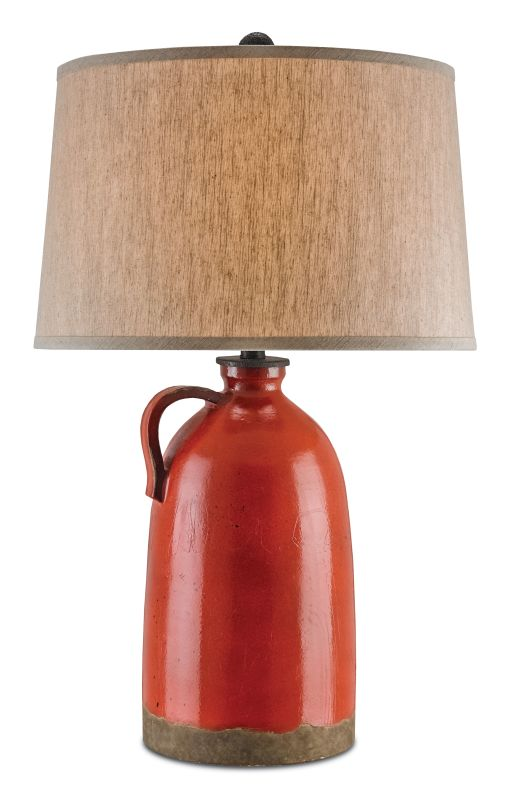 "Currey and Company 6849 Burnham 29"" High Table Lamp Baltik Red / Mole"