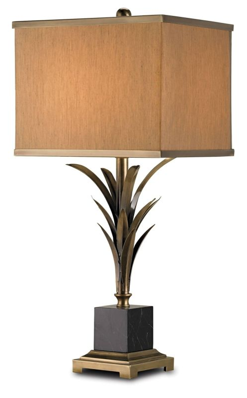 Currey and Company 6901 Killarny Table Lamp with Beige Silk Shades