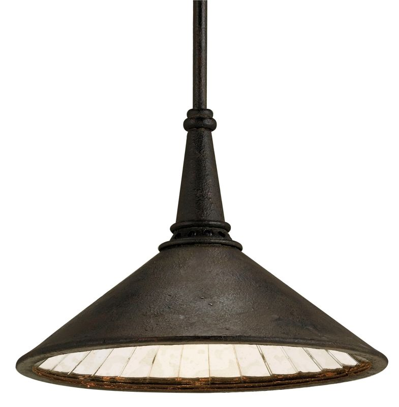 Currey and Company 9056 SBlack Industrial Currey In A Hurry Pendant
