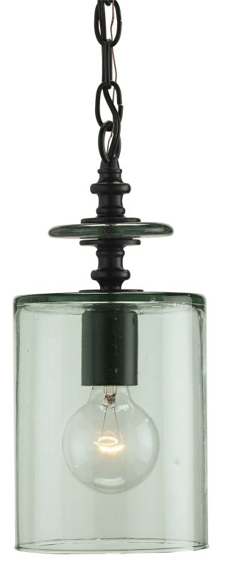 Currey and Company 9060 Black Industrial Currey In A Hurry Pendant