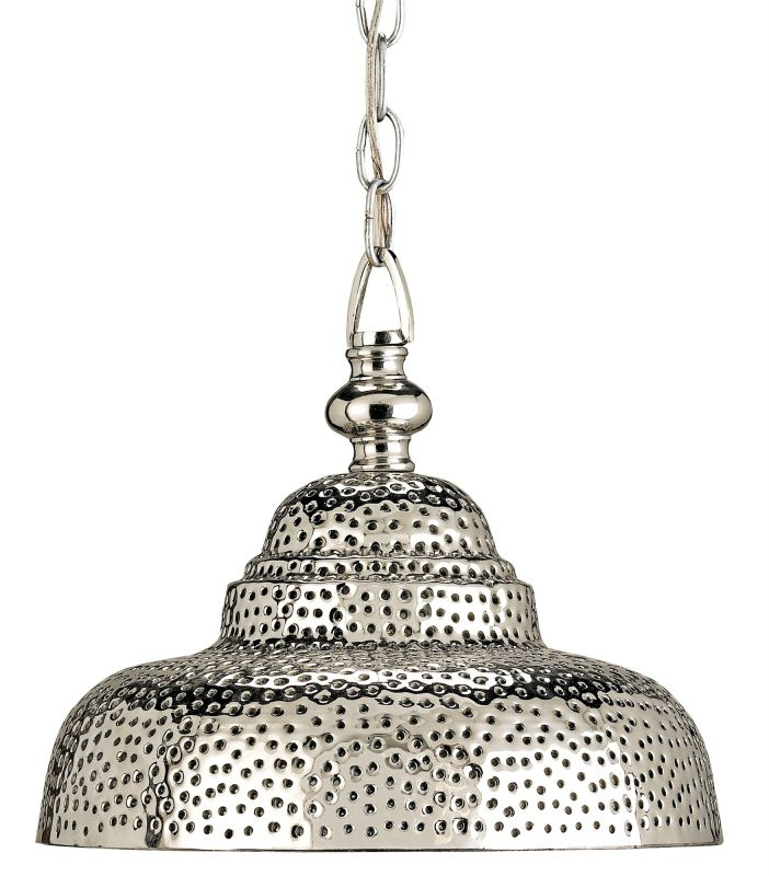 Currey and Company 9114 Lowell 1 Light Brass Full Sized Pendant Nickel