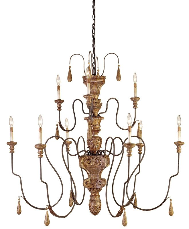 Currey and Company 9324 Mansion Chandelier Medium with Customizable