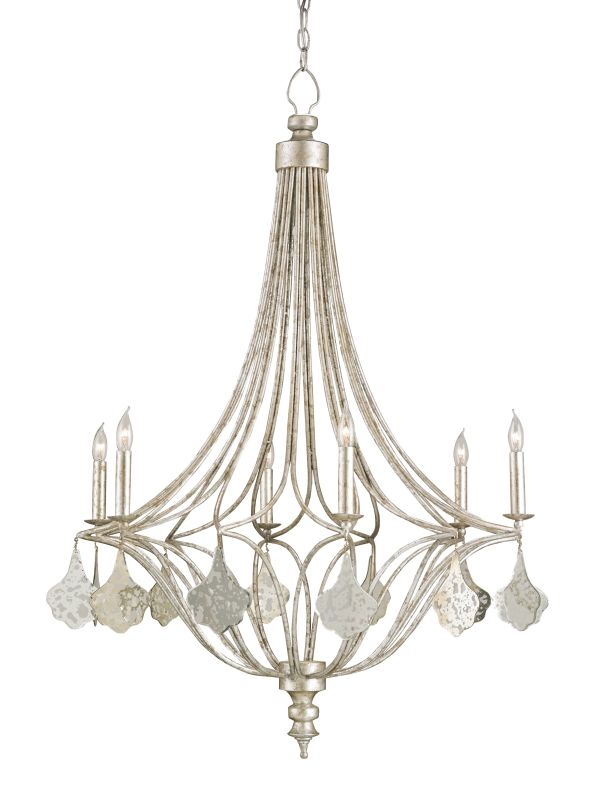 Currey and Company 9343 Lavinia 6 Light Candle Style Chandelier