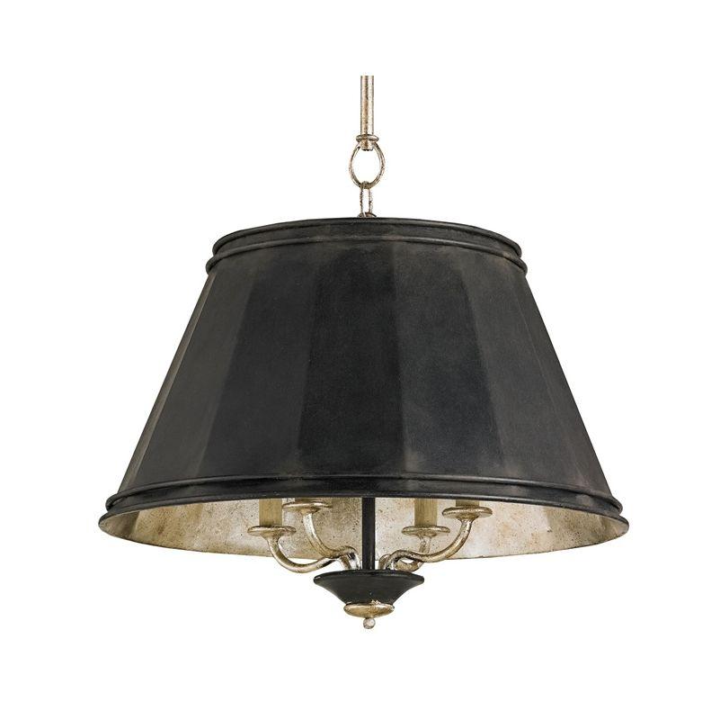 Currey and Company 9345 Eathorpe 4 Light 1 Tier Chandelier Black Smith
