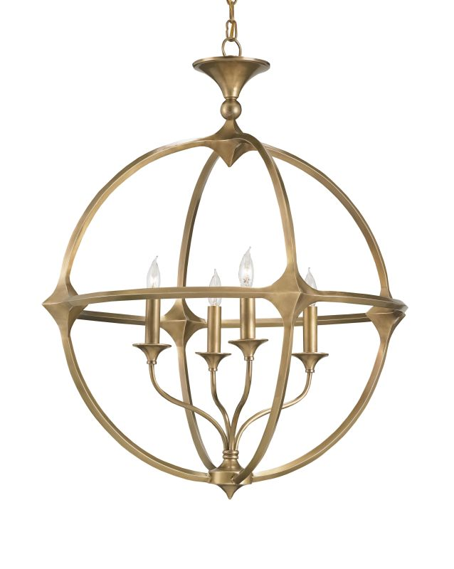 Currey and Company 9346 Bellario Orb 4 Light Candle Style Chandelier
