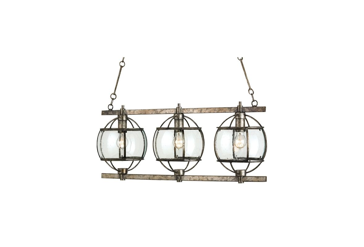 Currey and Company 9354 Dirty Silver Industrial Broxton Chandelier