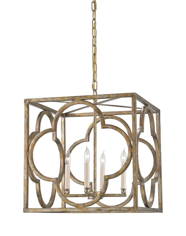 Currey and Company 9360 Cosette 4 Light Full Sized Pendant Peppercorn