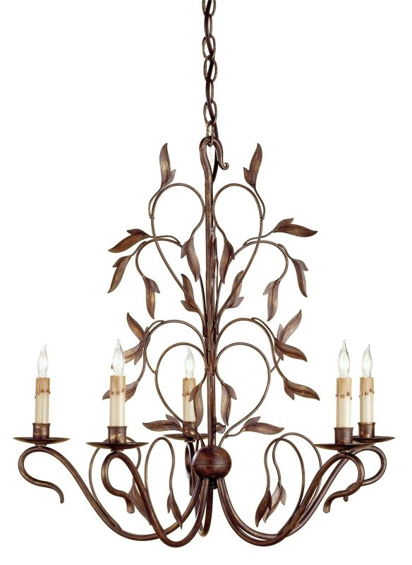 Currey And Company 9371 Hand Rubbed Bronze Arcadia 5 Light