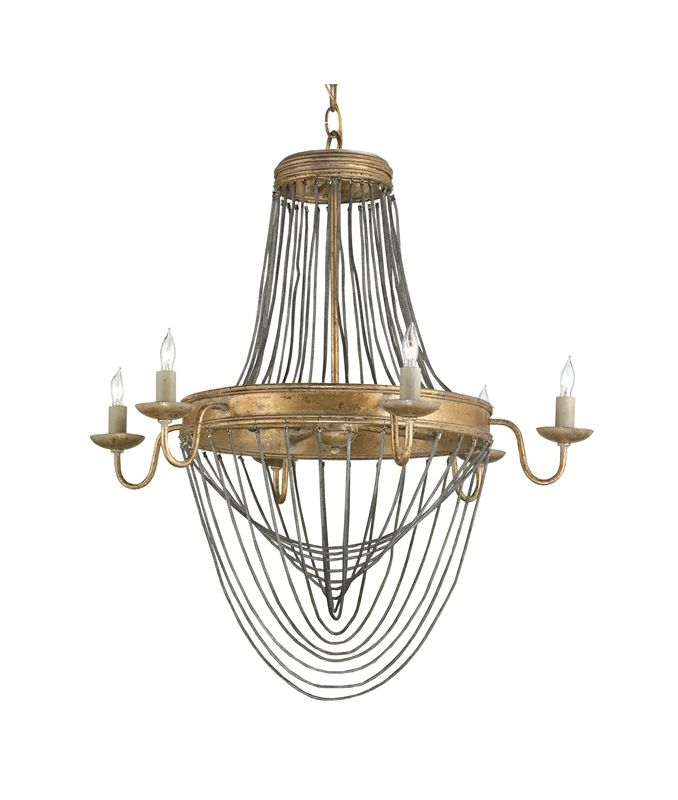 "Currey and Company 9411 Lucien 6 Light 28"" High 1 Tier Chandelier"