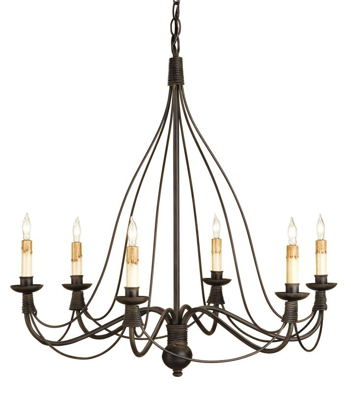 Currey and Company 9421 Trademark Chandelier with Customizable Shades