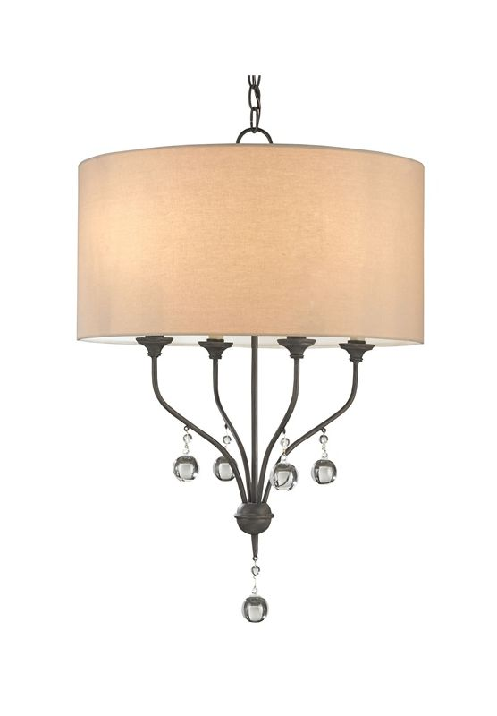 "Currey and Company 9432 Penmere 4 Light 28"" High 1 Tier Chandelier"