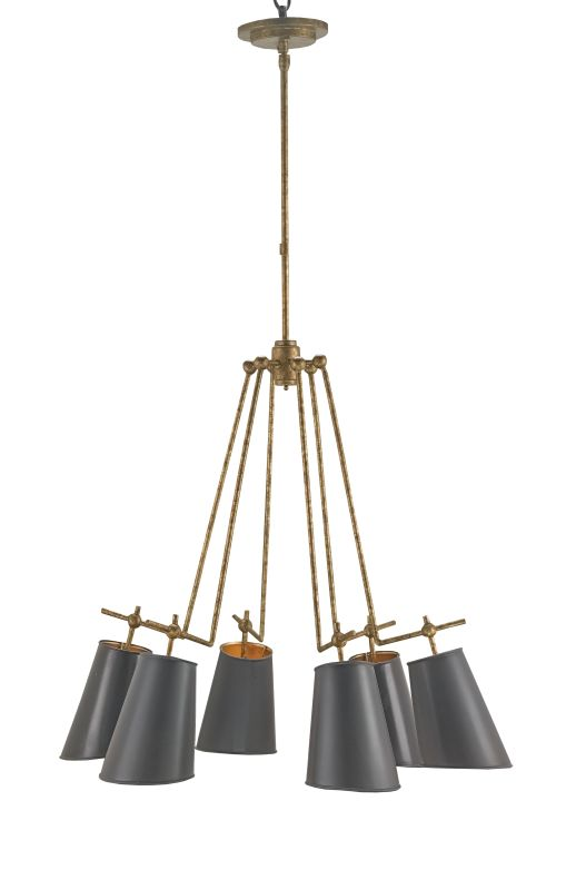 Currey and Company 9503 Jean-Louis 6 Light Chandelier Old Brass Indoor Sale $1470.00 ITEM: bci2493465 ID#:9503 :