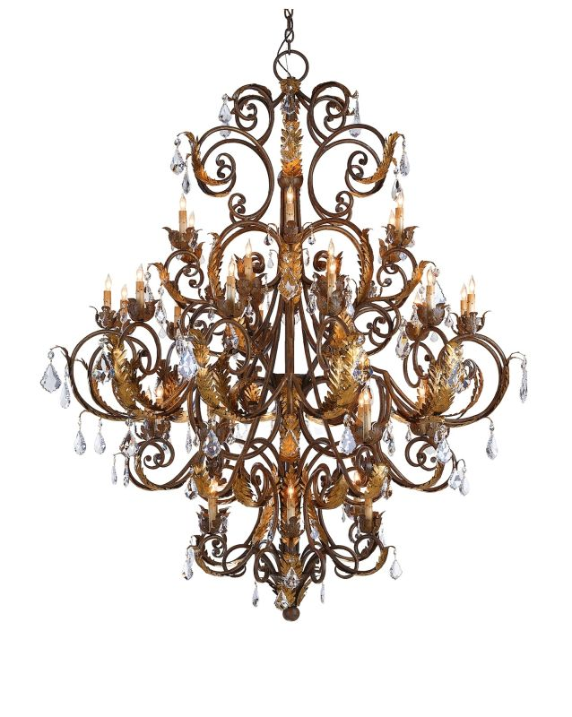 Currey and Company 9530 Innsbruck Chandelier Venetian/Gold