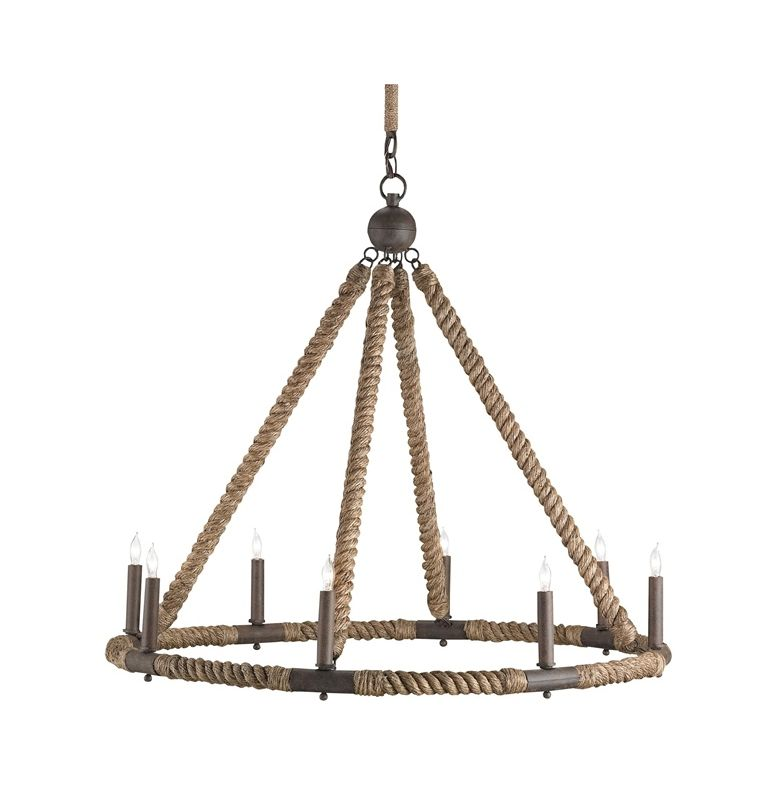 "Currey and Company 9536 Bowline 8 Light 29"" High 1 Tier Chandelier"