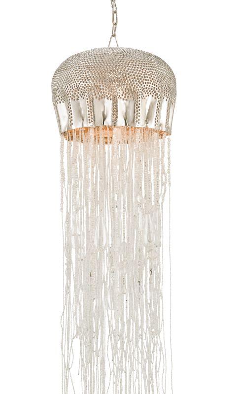 Currey and Company 9551 Medusa 1 Light Full Sized Pendant Nickel