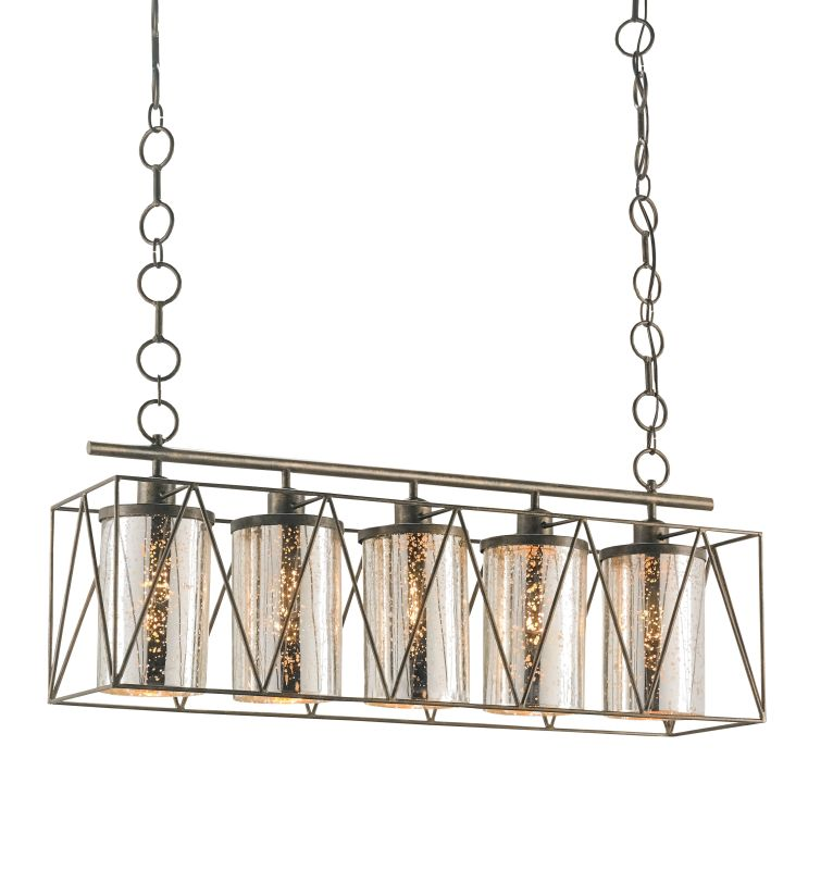 Currey and Company 9564 Marmande 5 Light Linear Chandelier Cupertino