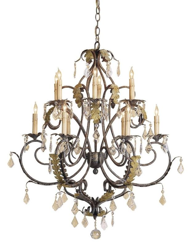 Currey and Company 9571 Heirloom Chandelier Small with Customizable