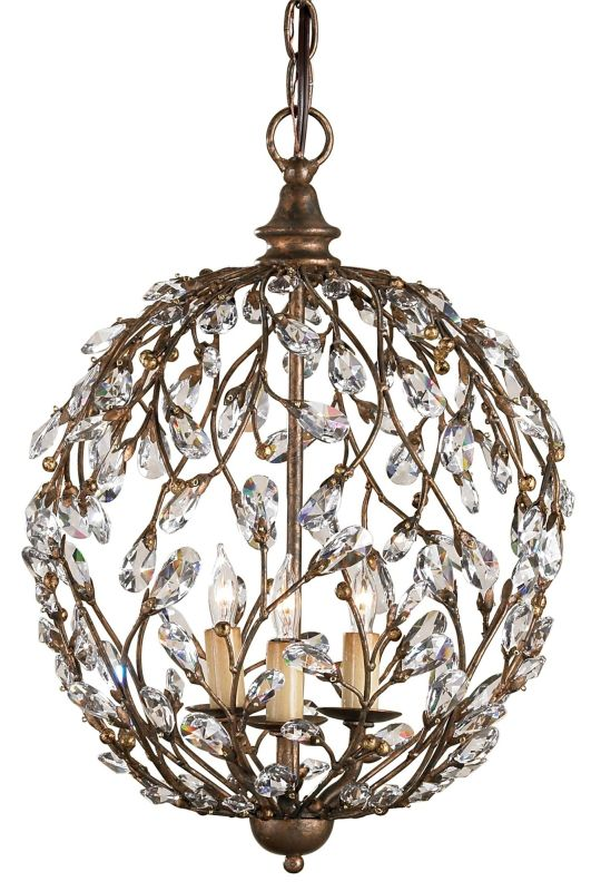 Currey and Company 9652 Crystal Bud Sphere Chandelier Cupertino Indoor