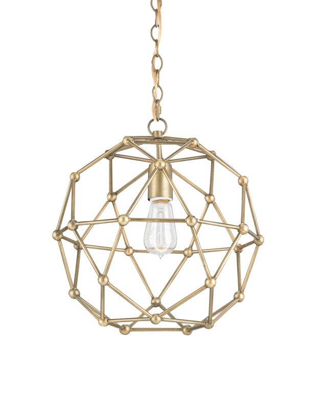 Currey and Company 9704 Percy 1 Light 1 Tier Chandelier Antique Brass