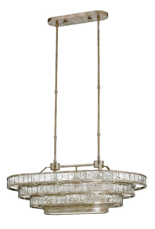 """Currey and Company 9747 Frappe 3 Light 3 Tier Chandelier Silver Sale $2870.00 ITEM: bci2604859 ID#:9747 Features: Pair with other items in the Frappe Collection Designed to cast a soft ambient light over a wide area Made of Iron Clear glass oval shaped shade Lamping Technology: Bulb Base - Medium (E26): The E26 (Edison 26mm), Medium Edison Screw, is the standard bulb used in 120-Volt applications in North America. E26 is the most common bulb type and is generally interchangeable with E27 bulbs. Compatible Bulb Types: Nearly all bulb types can be found for the E26 Medium Base, options include Incandescent, Fluorescent, LED, Halogen, and Xenon / Krypton. Dimensions: Height: 14"""" (measured from ceiling to bottom most point of fixture) Maximum Height: 51"""" (including chain / down rods) Minimum Height: 14"""" Width: 36"""" (measured from furthest point left to furthest point right on fixture) Electrical Specifications: Bulb Base: Medium (E26) Bulb Included: No Bulb Type: Compact Fluorescent, Incandescent Number of Bulbs: 3 Watts Per Bulb: 60 Wattage: 180 Voltage: 120v Compliance: UL Listed - Indicates whether a product meets standards and compliance guidelines set by Underwriters Laboratories. This listing determines what types of rooms or environments a product can be used in safely. :"""