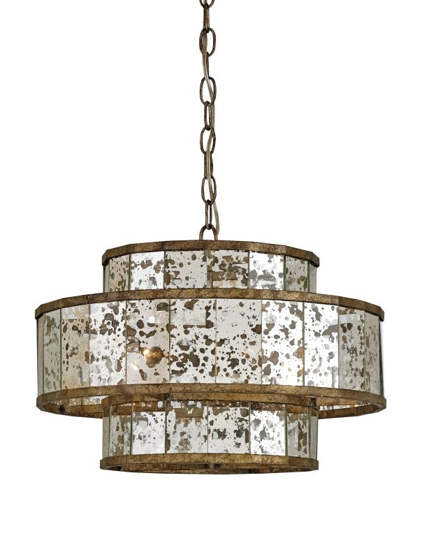 Currey and Company 9759 Fantine 5 Light 3 Tier Chandelier Pyrite