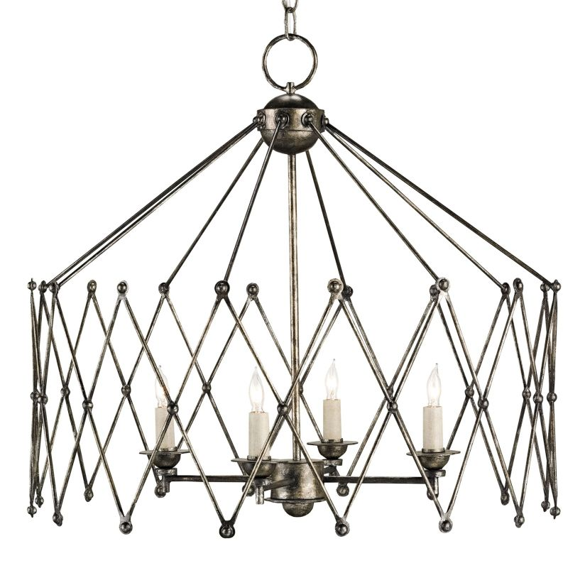 Currey And Company Orb Chandelier: Currey And Company 9998 Pyrite Bronze Accordion 4 Light