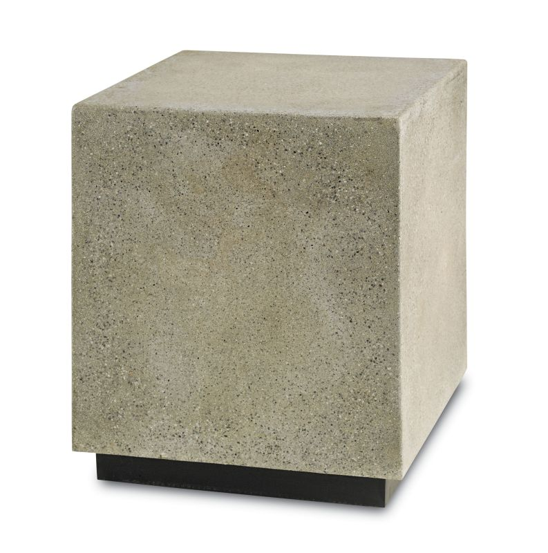 Currey and Company 2018 Goodstone Squared Occasional Table Polished