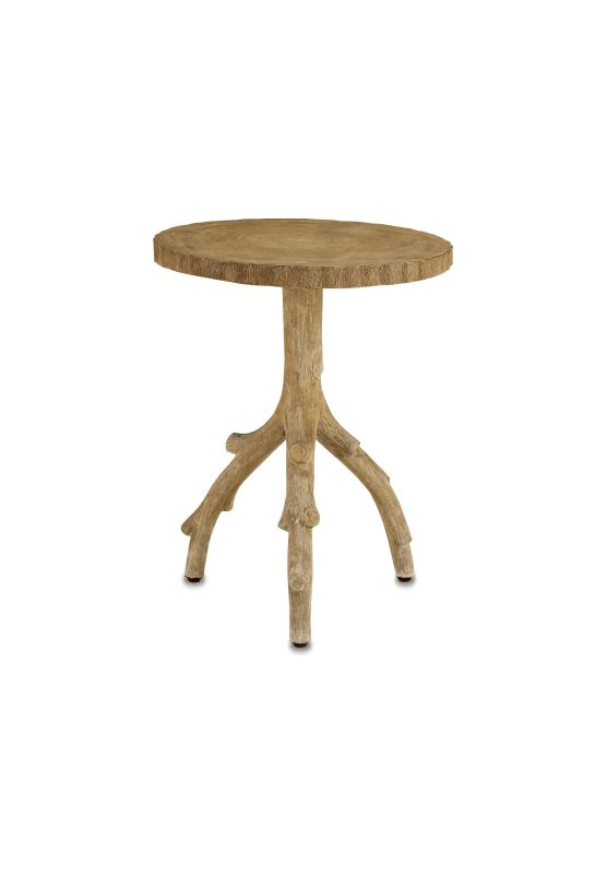 """Currey and Company 2384 22"""" Redgrove Table Faux Bois Furniture End"""