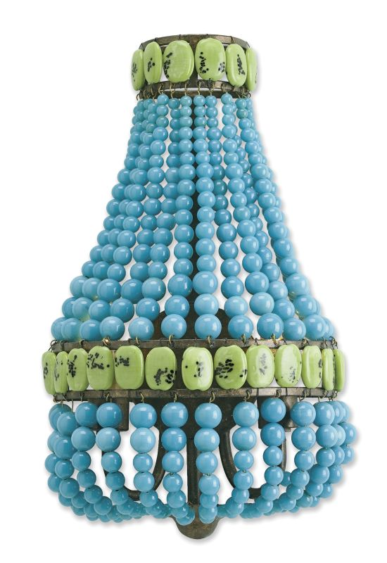 Currey and Company 5087 Lana 2 Light Wall Sconce Turquoise Cupertino /