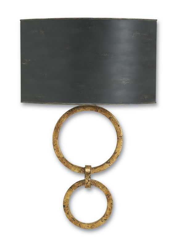 Currey and Company 5910 Bolebrook 1 Light Wall Sconce Gold Leaf Indoor