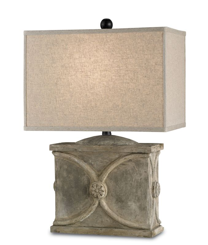 Currey and Company 6014 Waldenbury 1 Light Table Lamp with Detailed