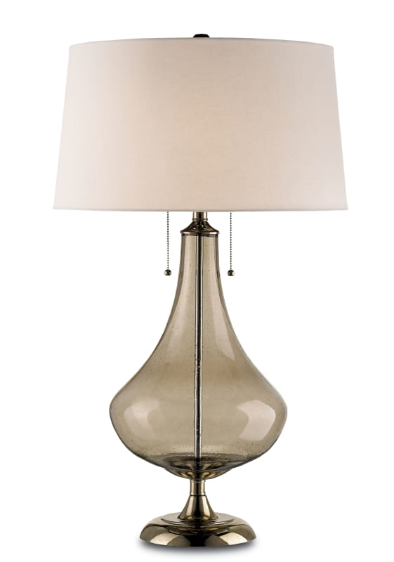 Currey and Company 6274 Courtier 2 Light Table Lamp with Glass Base