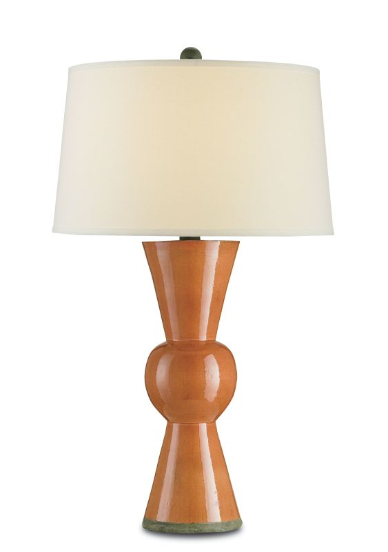 Currey and Company 6351 Upbeat 1 Light Table Lamp Orange Orange Lamps