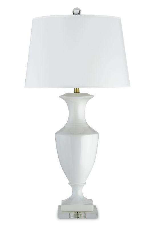 "Currey and Company 6478 Timeless 35""H 1 Light Table Lamp with White"