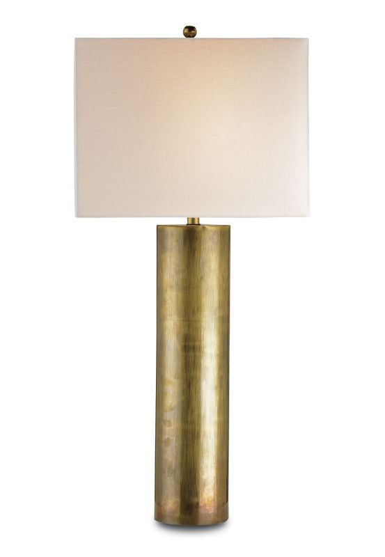 "Currey and Company 6504 Constable 34""H 1 Light Table Lamp with Square"