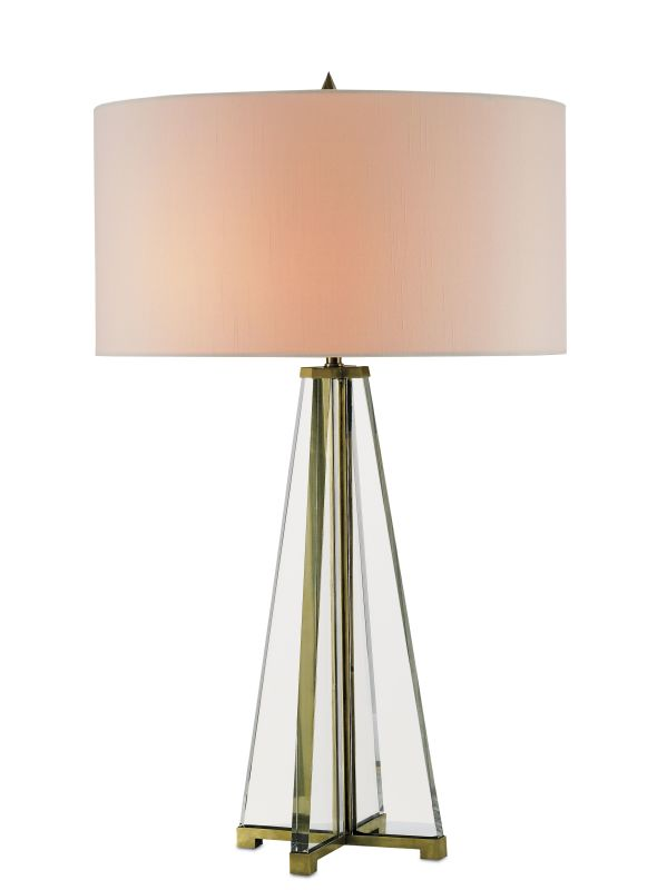 Currey and Company 6557 Lamont 2 Light Table Lamp Brass / Clear Optic Sale $1480.00 ITEM: bci2131419 ID#:6557 :
