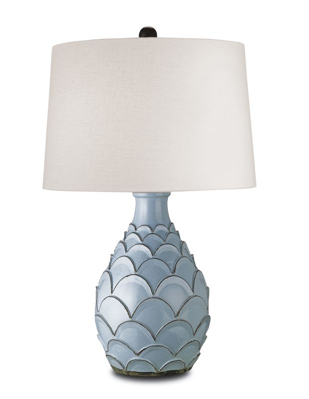 "Currey and Company 6651 Roehampton 35""H 1 Light Table Lamp with Linen"