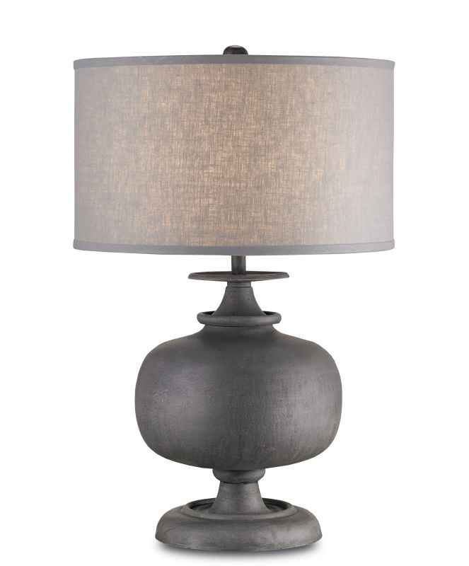 Currey And Company 6884 Antique Gray Lino 1 Light Cast