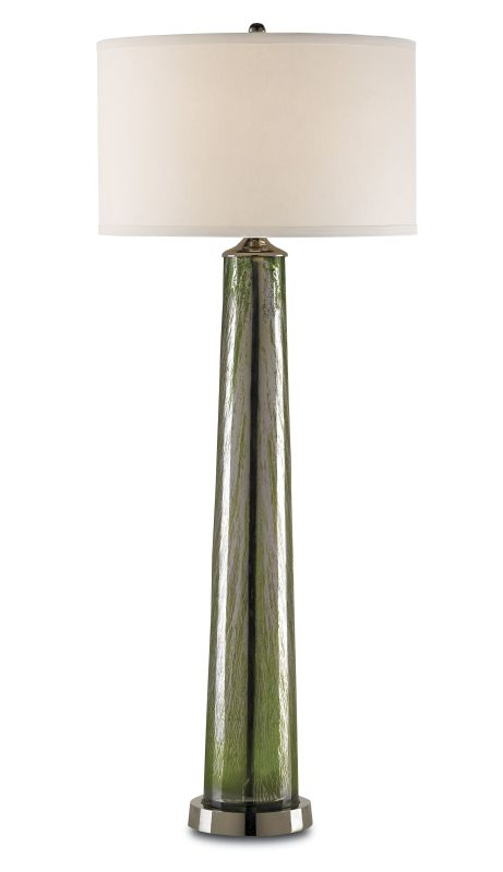Currey and Company 6885 Cassandra 1 Light Table Lamp with Tall Green