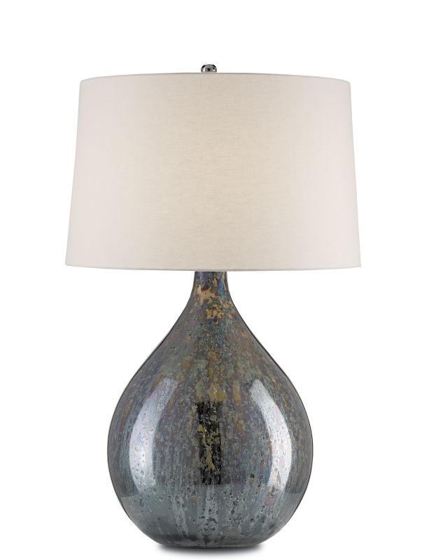 Currey and Company 6909 Merseyside 1 Light Table Lamp with Blue