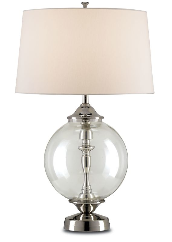 Currey and Company 6910 Viewpoint 1 Light Table Lamp with Clear Glass