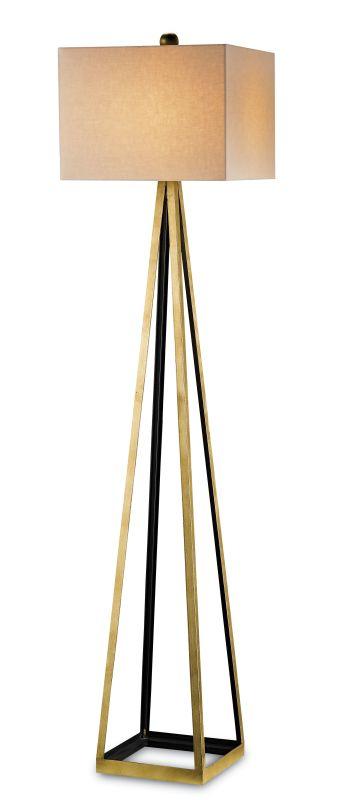 Currey and Company 8049 Bel Mondo 1 Light Floor Lamp Contemporary Gold