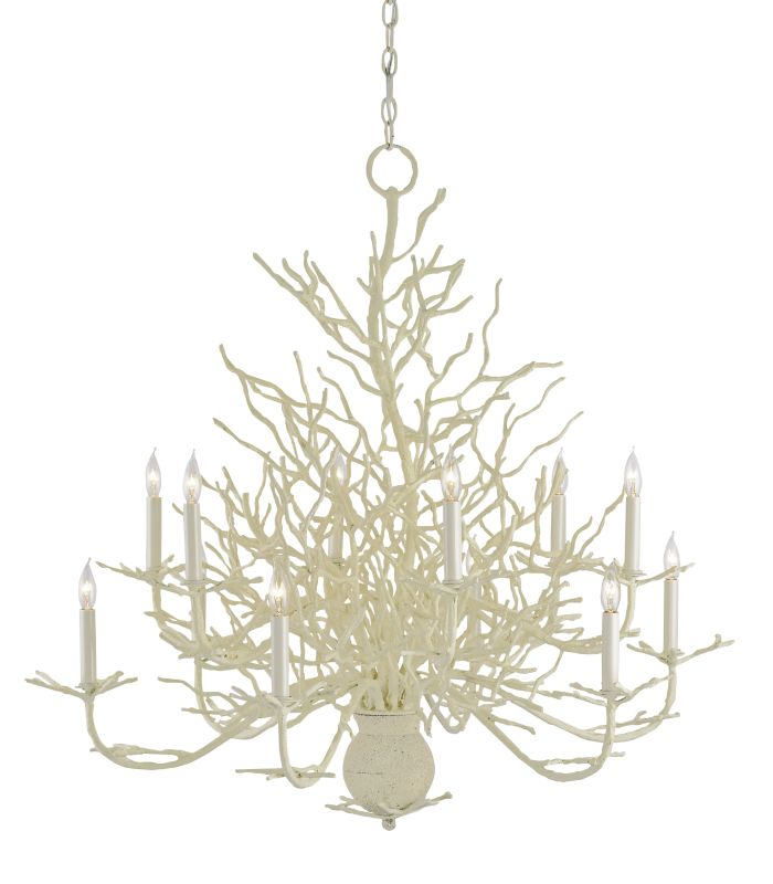 "Currey and Company 9188 Seaward 37"" 12 Light Large Chandelier with"
