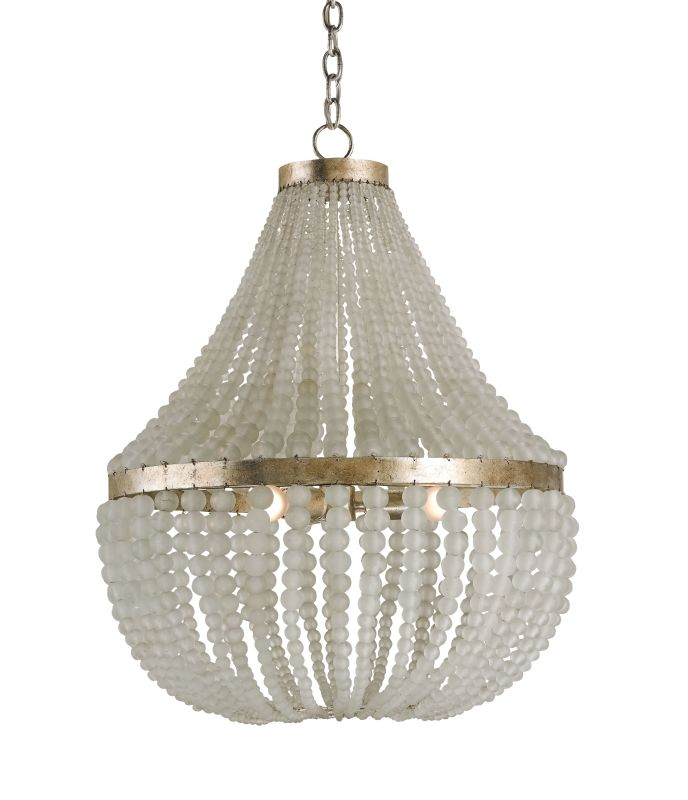 Currey and Company 9202 Chanteuse 3 Light Chandelier Silver Granello