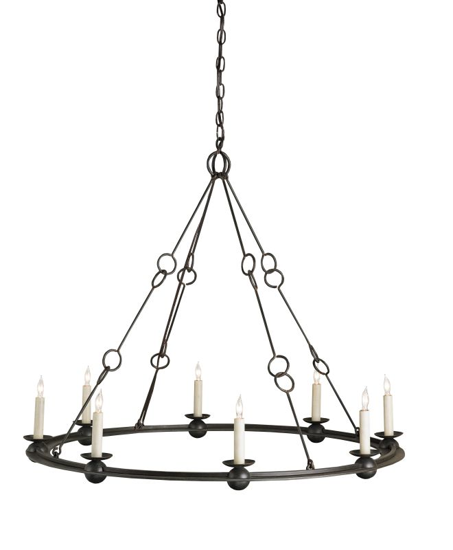 Currey and Company 9366 Rooney 8 Light Chandelier Old Iron Indoor Sale $1370.00 ITEM: bci2131486 ID#:9366 :